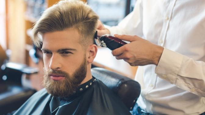 Мужская или детская стрижка, моделирование бороды вбарбершопе Barbarossa