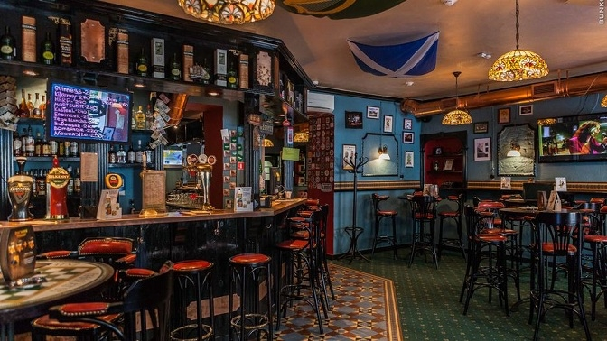 Блюда инапитки вирландском пабе Harat's Irish Pub