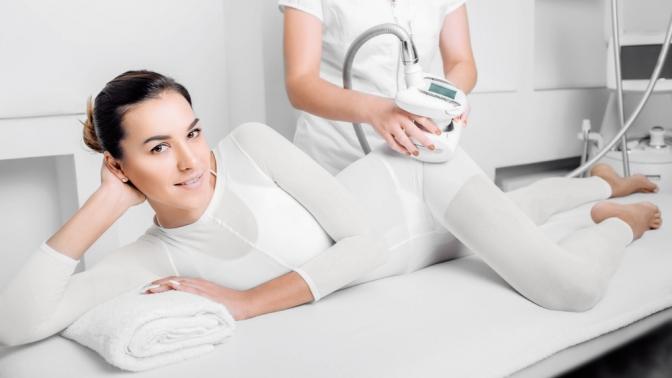 Сеансы LPG-массажа, кавитации, RF-лифтинга, термокриолиполиза встудии красоты Lazer Expert
