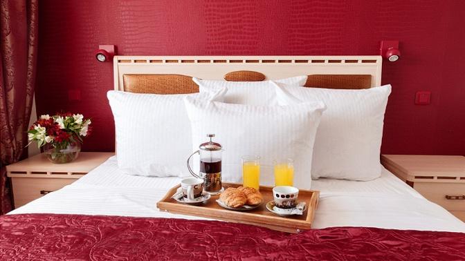 Проживание вцентре Томска вномере выбранной категории сзавтраком, игристым напитком иукрашением номера или без вотеле «Африка»