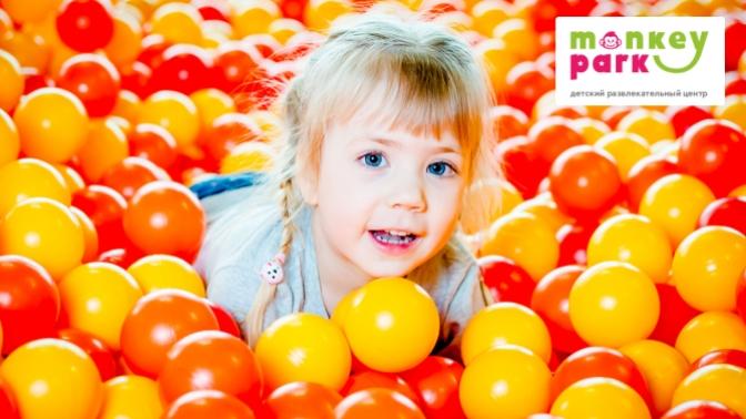 Проведение дня рождения или детского праздника спосещением игровых зон иарендой тематической комнаты всемейном парке развлечений Monkey Park