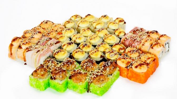 Суши, роллы, сеты отслужбы доставки Bistro Sushi соскидкой50%
