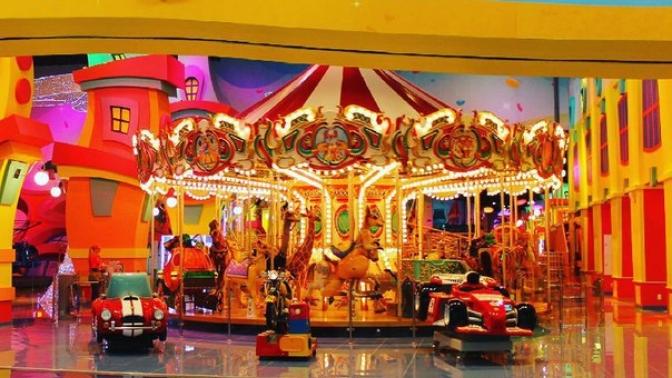 Целый день посещения игрового комплекса «Веселый городок» или празднование детского дня рождения попакету «Волшебный» саниматором иугощениями отсети парков развлечений «Фанки таун»