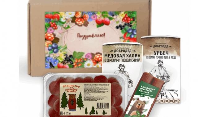 Подарочные наборы экопродукции смедом, вареньем, пастилой, шоколадом, урбечем ииван-чаем