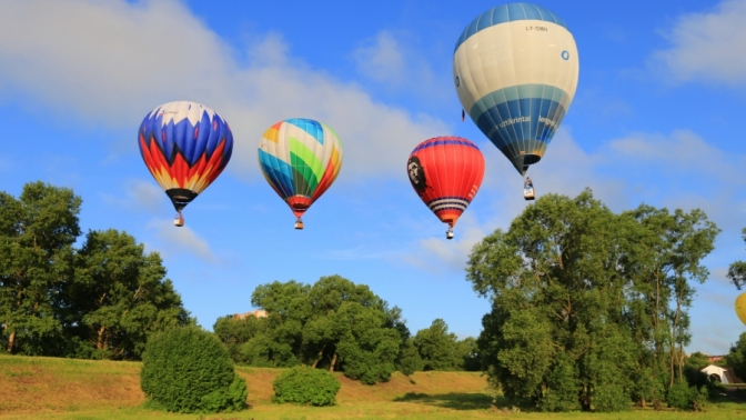 Полет навоздушном шаре вгруппе свручением памятных грамот отвоздухоплавательного клуба «Аэронавт Регион»