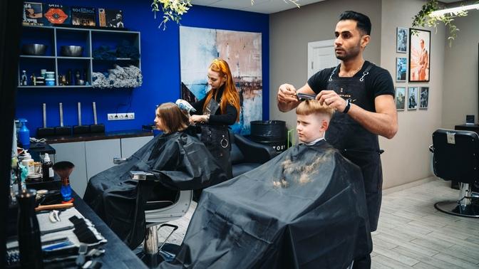 Мужская или детская стрижка, бритье опасной бритвой либо моделирование бороды отбарбершопа Hestory
