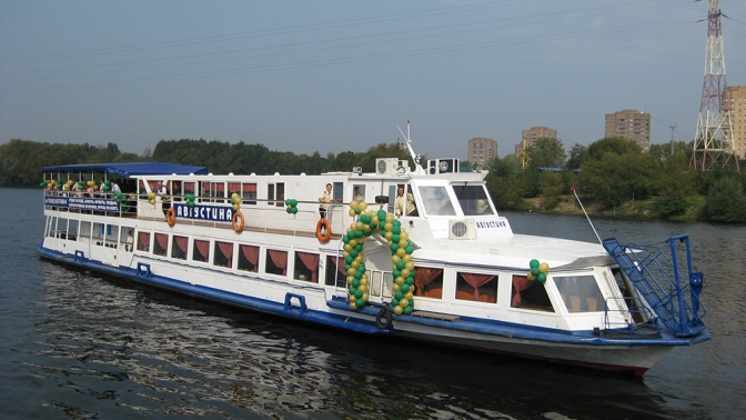 Прогулка поМоскве-реке «Москва Златоглавая» натеплоходе «Августина» отсудоходной компании «Августина»