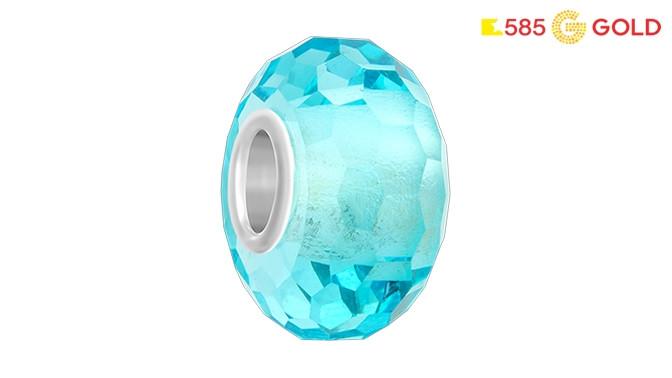 68f8bc6d54f9 Серьги или кольца из серебра с фианитом, бусина-шарм с муранским стеклом на  выбор и подарок от ювелирной сети 585Gold