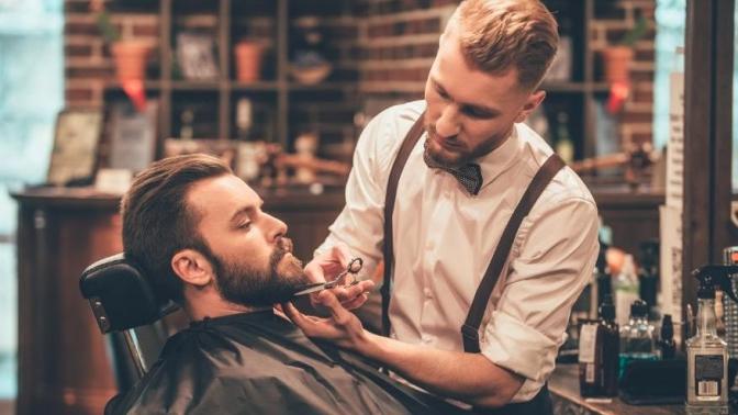 Стрижка иоформление бороды вбарбершопе Dark Star Barbershop