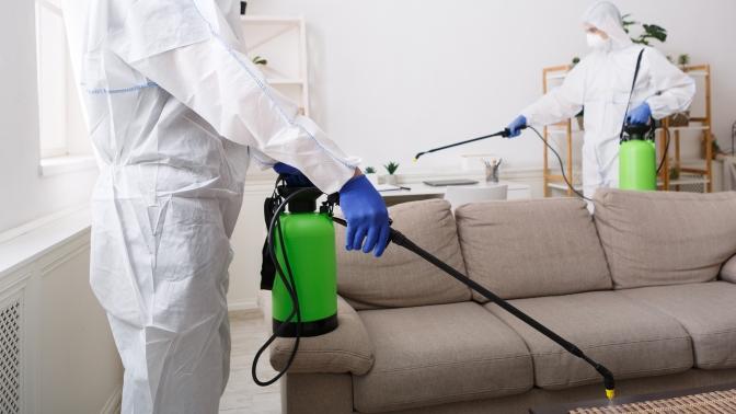 Дезинфекция комнаты, квартиры или подъезда откоронавируса COVID-19 откомпании «СанДез Гарант»