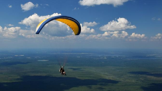 Тандемный полет напараплане синструктором откомпании «СпортАвиаСервис»