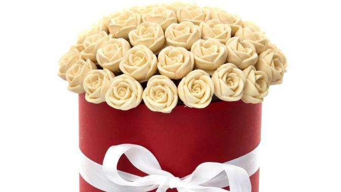 Розы изшоколада