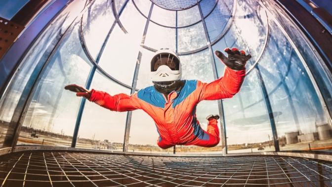 2минуты свободного полета ваэродинамической трубе Like Fly вэкстрим-парке «ШиШки»