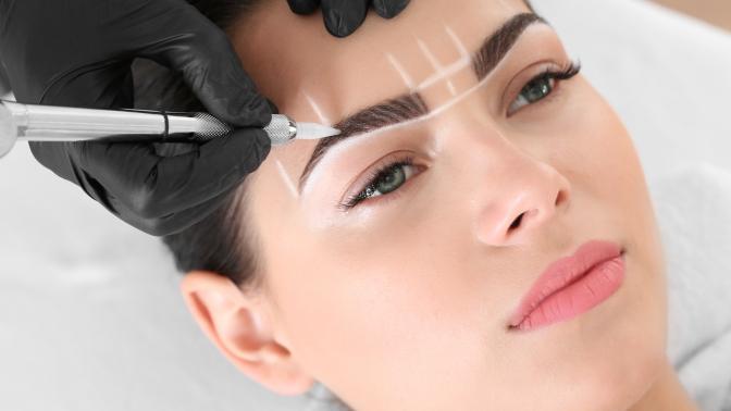 Перманентный макияж бровей, век или губ, оформление икоррекция бровей вавторской студии Mari Stepanova