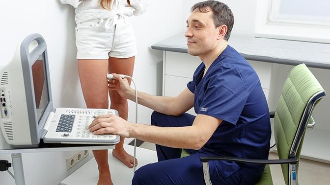 Консультация хирурга-флеболога, УЗИ вен нижних конечностей иразработка индивидуального плана лечения вклинике флебологии «Венэксперт»