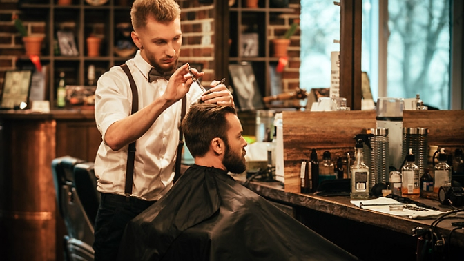 Мужская, детская стрижка, бритье головы или «Королевское бритье» вбарбершопе Gulo