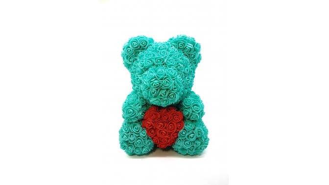 Медведь изфоамирановых роз или открытка-кубик