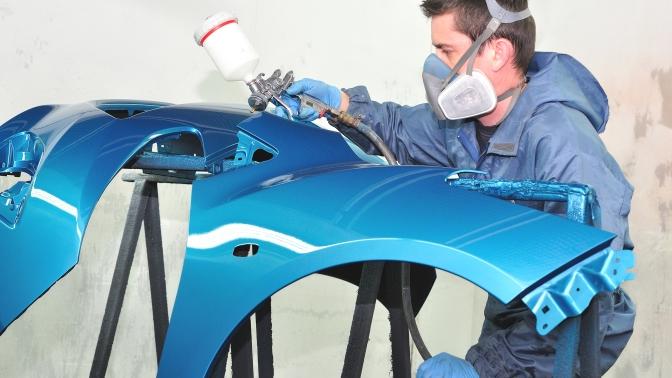Покраска деталей автомобиля вавтоцентре BodyWork Custom