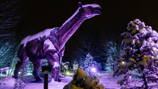 Билет напосещение «Динопарка» и«Ice-парка» всемейном парке «Сказка»