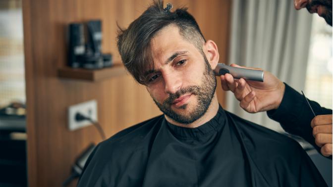 Мужская, детская стрижка, оформление бороды устилиста Сахаровой Ксении всалоне «Эрмитаж»