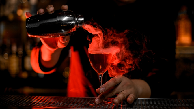 Паровой коктейль ичайник чая влаундж-баре Breaking Bad