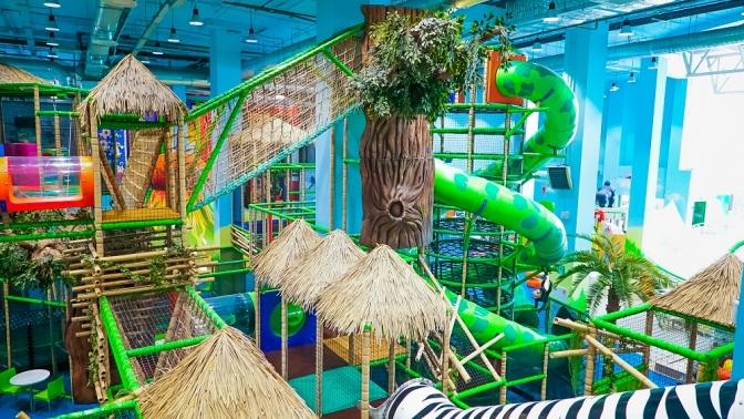 Посещение скалодрома или детского лабиринта впарке активного отдыха иприключений «Веселые джунгли»