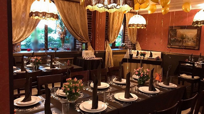 Банкет сзакусками, салатами, горячими блюдами, напитками идесертом вкафе «Шантимель»