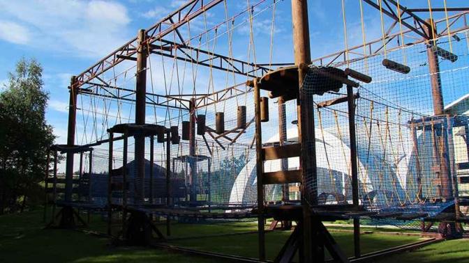 Посещение веревочного парка взагородном комплексе «Петрухино-клуб»