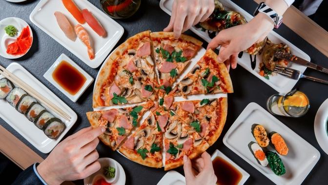 Вся пицца изменю или всё японское меню отслужбы доставки «Васаби33» соскидкой50%