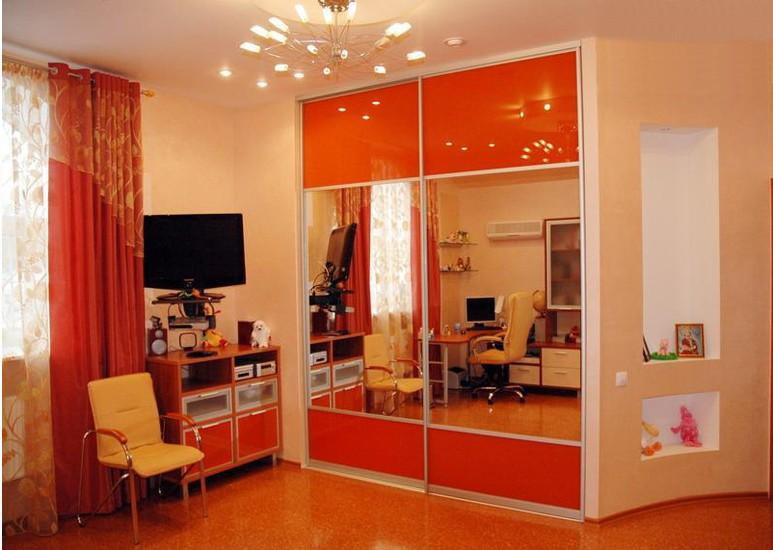 Шкафы-купе для подростковой комнаты - мд мебель.