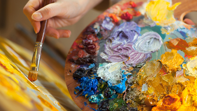 Посещение мастер-класса порисованию «Рисуем за3часа» или Point-to-Point вхудожественной студии «Август-Арт»