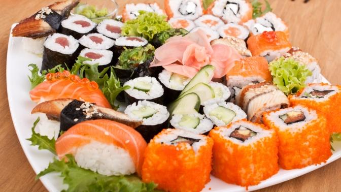 Суши, роллы исеты отслужбы доставки японской еды «Золотой Дракон» соскидкой65%