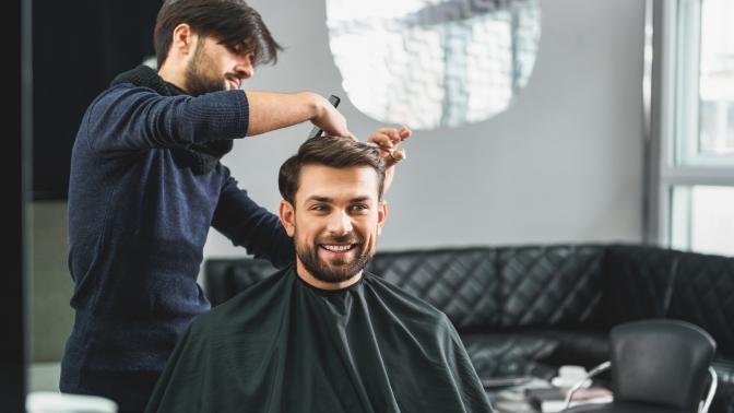 Мужская стрижка, моделирование бороды, детская стрижка вбарбершопе Union Jack