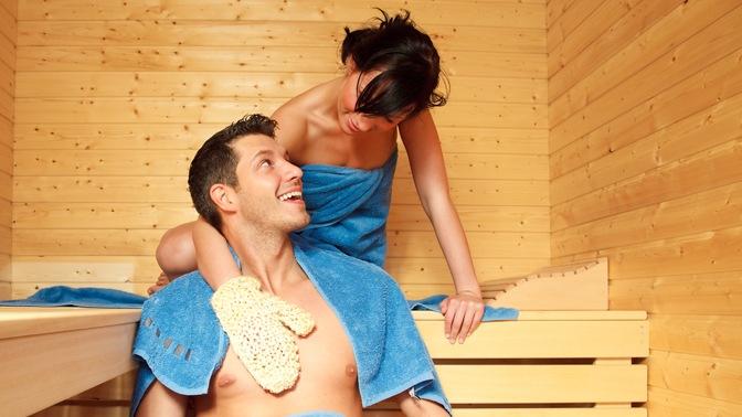 Девушки парни в бане