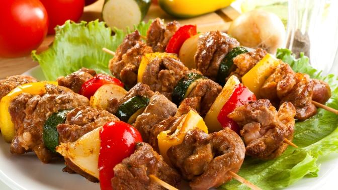 аппетитное блюдо шашлык