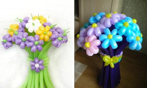 Видео цветы из шаров